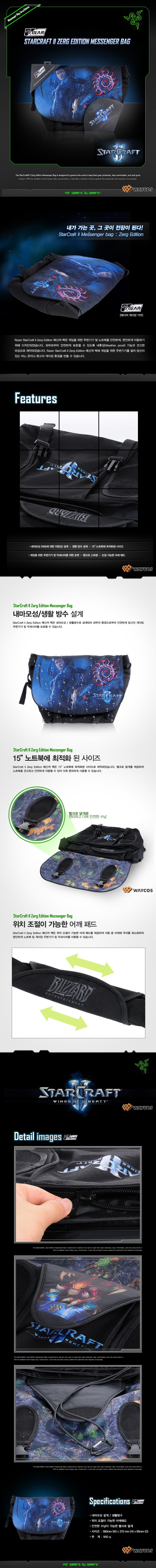 Waycos Razer Starcraft 2 Sling Bag